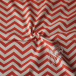 Interlock Jersey Chevron coral