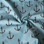 Jersey Drawn Anchors Lycra